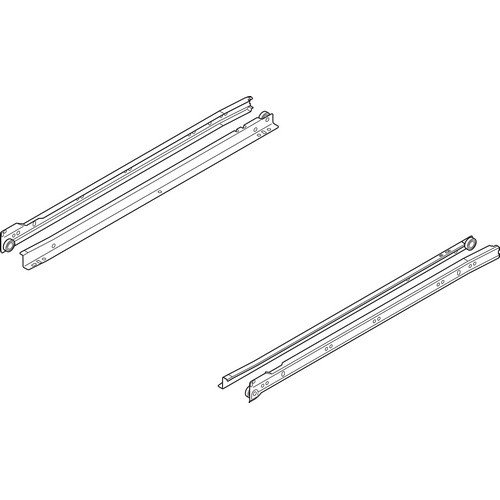 Blum 230M3000 12in Standard 230M Epoxy Drawer Slide, White, Polybag