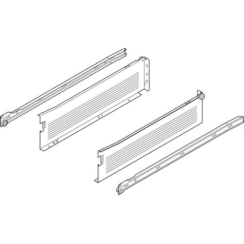 Blum 320K4500C15 18in METABOX 320K Slide, 5in Side Height, 3/4 Ext