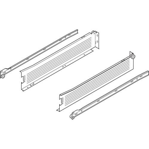 Blum 320M4500C15 18in METABOX 320M Slide, 4in Side Height, 3/4 Ext