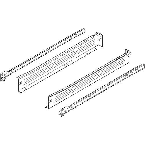 Blum 320N2700C 11in METABOX 320N Slide, 2in Side Height, 3/4 Extension