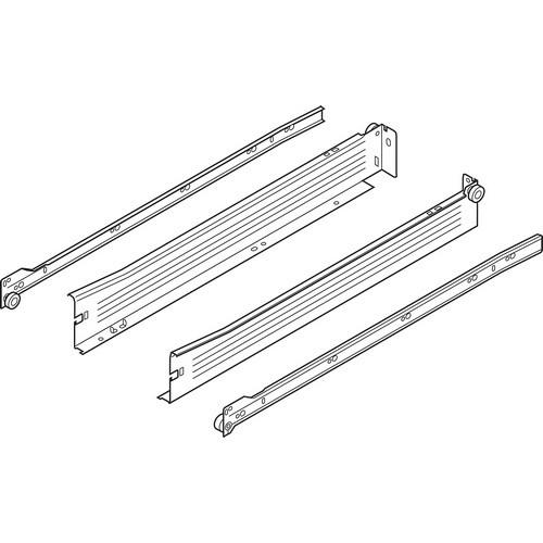 Blum 320N5500C15 22in METABOX 320N Slide, 2in Side Height, 3/4 Ext