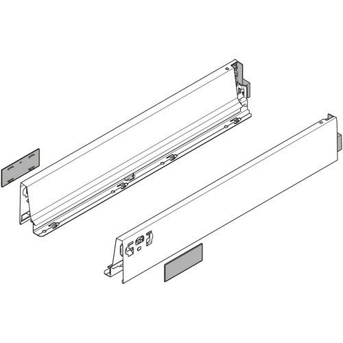 "Blum 358M3502IA 14"" TANDEMBOX 358M Drawer Side, 3-3/8 Height, 3-3/8 Height, Set (Right & Left)"