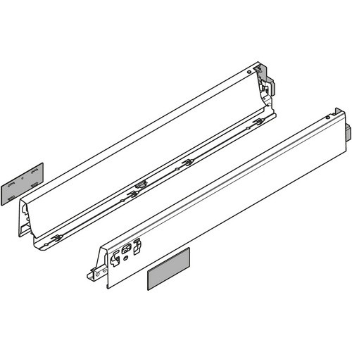 "Blum 358N4502IA 18"" TANDEMBOX 358N Drawer Side, 2-3/4 Height, Set (Right & Left)"