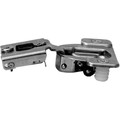 Blum 38N358CE08 Compact 38N Face Frame Hinge, Self-Close, 107 Degree, 1/2 Overlay, Side Mount, Dowel