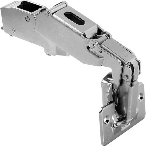 Blum 71T6650 170 Degree CLIP Top Hinge, Self-Close, Half Overlay, Screw-on