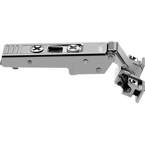 Blum 73T550A 120 Degree CLIP Top Aluminum Door Hinge, Self-Close, Full Overlay, Screw-on