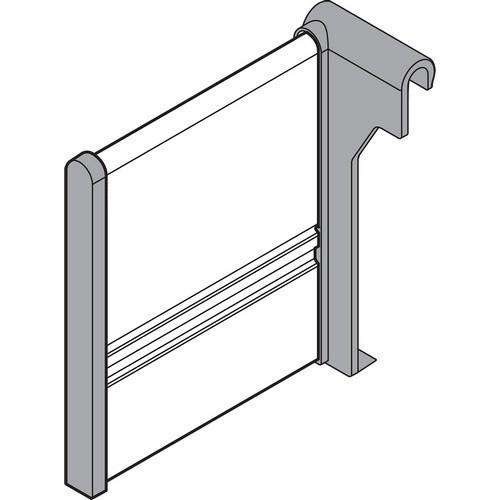 Blum Z43H100S.01 4 x 4-1/2 Steel ORGA-LINE Lateral Divider, White Aluminum/Grey