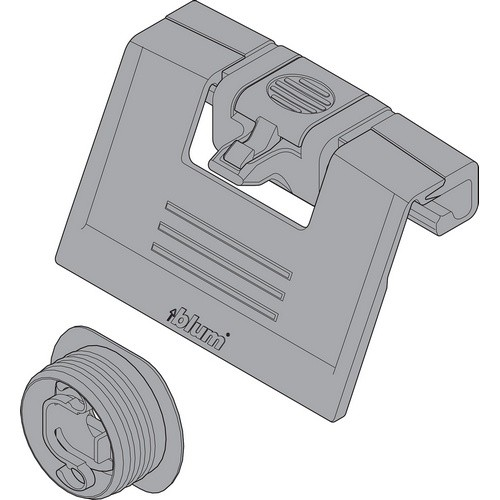 Blum ZIF.80M7 TANDEMBOX Interior Drawer Handle with Latch, Nickel