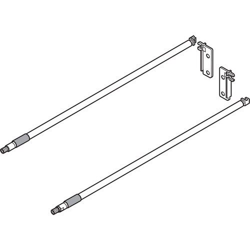 Blum ZRE.371S.ID Inserta Gallery Rail for 16in METABOX Side,
