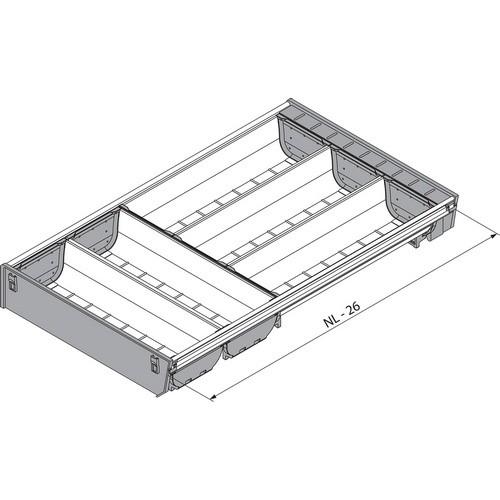Blum ZSI.500BI3A 20in 3-tiered Cutlery Organizer, Inox