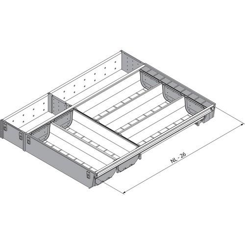 Blum ZSI.550KI4A 22in 4-Tiered Cutlery/Utensil Organizer, Inox
