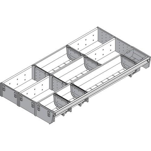 Blum ZSI.550MI3 22in 3-Tiered Cutlery/Utensil Organizer, Inox