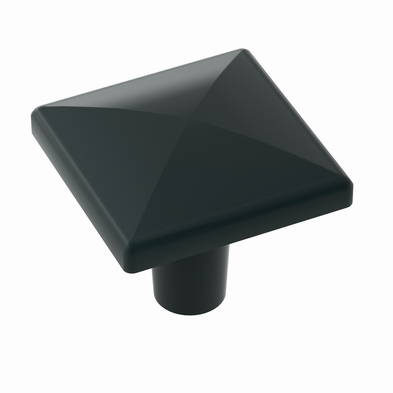 "Extensity Knob 1-1/2"" Long Flat Black Amerock BP29398FB"