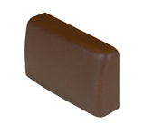 Grass F155145060133 Left Hand Plastic Cover Cap for the Grass Suspension Rail Bracket, Brown