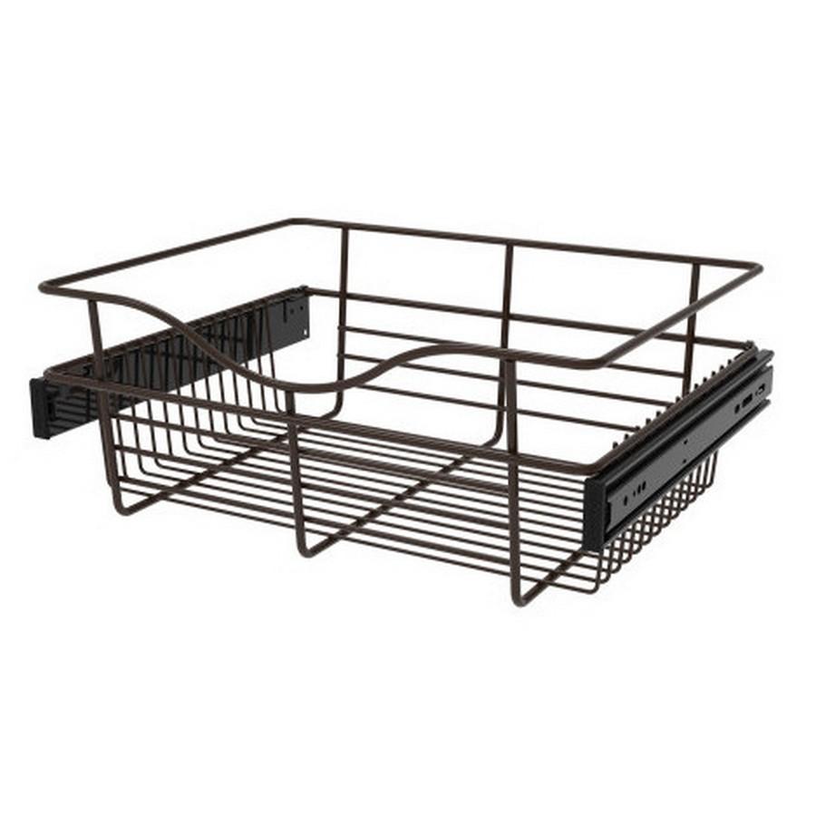 Pull-Out Wire Closet Basket, 18 W x 14 D x 7 H, Oil Rubbed Bronze Rev-A-Shelf CB-181407ORB-3