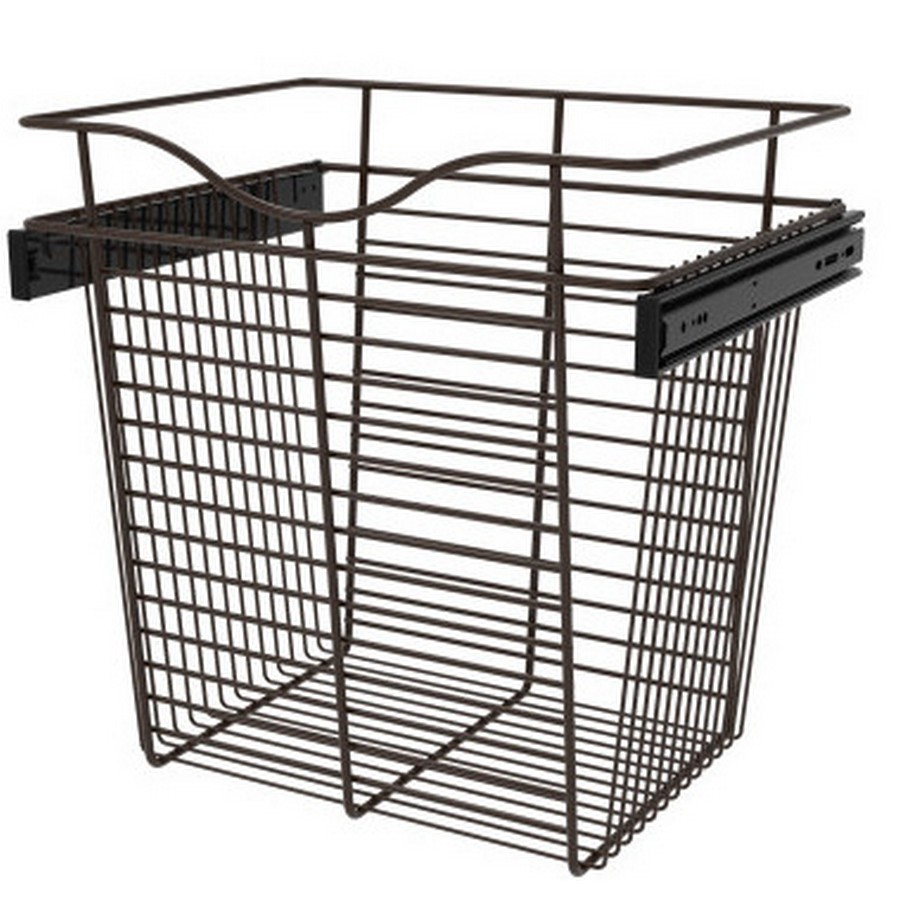 Pull-Out Wire Closet Basket, 18 W x 14 D x 18 H, Oil Rubbed Bronze Rev-A-Shelf CB-181418ORB-3