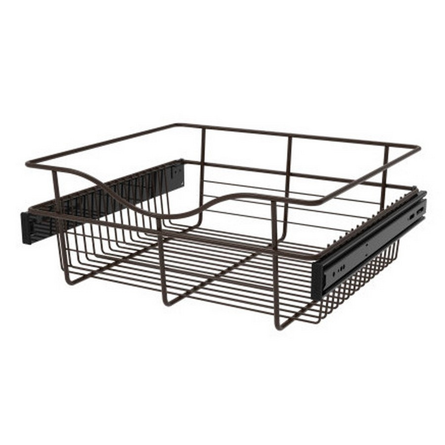 Pull-Out Wire Closet Basket, 18 W x 16 D x 7 H, Oil Rubbed Bronze Rev-A-Shelf CB-181607ORB-3