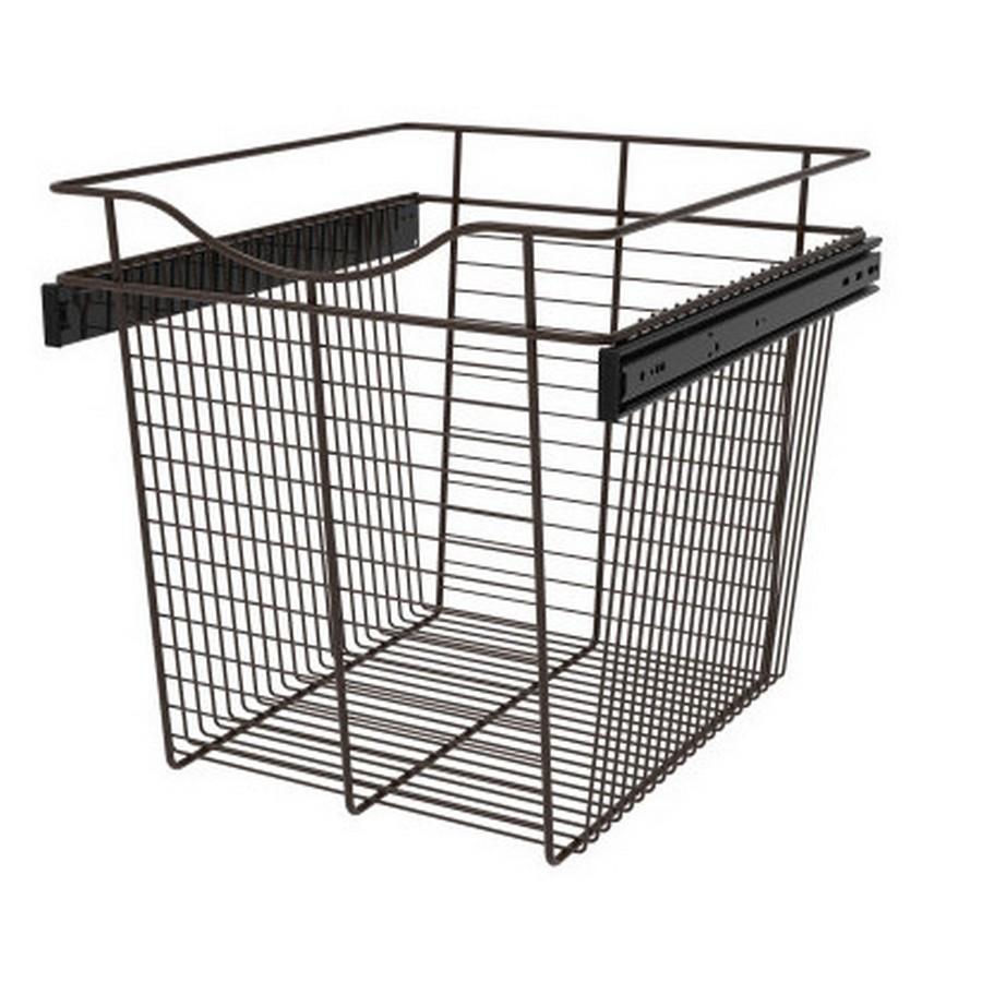 Pull-Out Wire Closet Basket, 18 W x 20 D x 18 H, Oil Rubbed Bronze Rev-A-Shelf CB-182018ORB-3