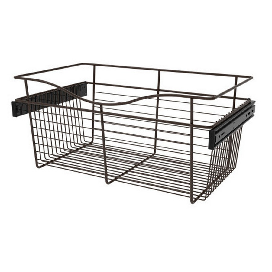Pull-Out Wire Closet Basket, 24 W x 14 D x 11 H, Oil Rubbed Bronze Rev-A-Shelf CB-241411ORB-3