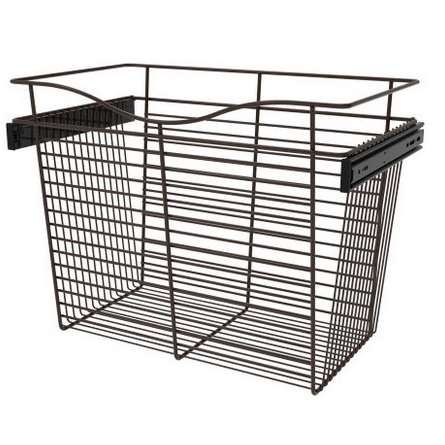 Pull-Out Wire Closet Basket, 24 W x 14 D x 18 H, Oil Rubbed Bronze Rev-A-Shelf CB-241418ORB-3