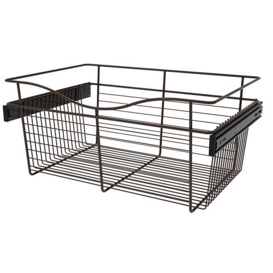 Pull-Out Wire Closet Basket, 24 W x 16 D x 11 H, Oil Rubbed Bronze Rev-A-Shelf CB-241611ORB-3