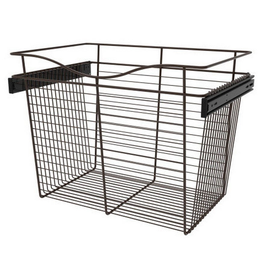 Pull-Out Wire Closet Basket, 24 W x 16 D x 18 H, Oil Rubbed Bronze Rev-A-Shelf CB-241618ORB-3