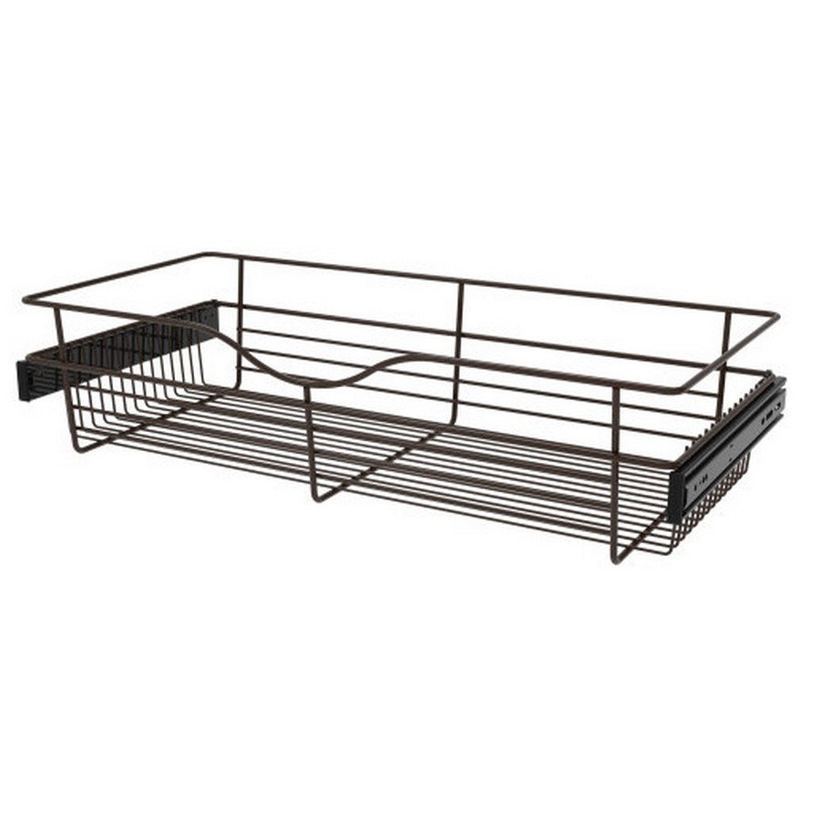 Pull-Out Wire Closet Basket, 30 W x 14 D x 7 H, Oil Rubbed Bronze Rev-A-Shelf CB-301407ORB-3