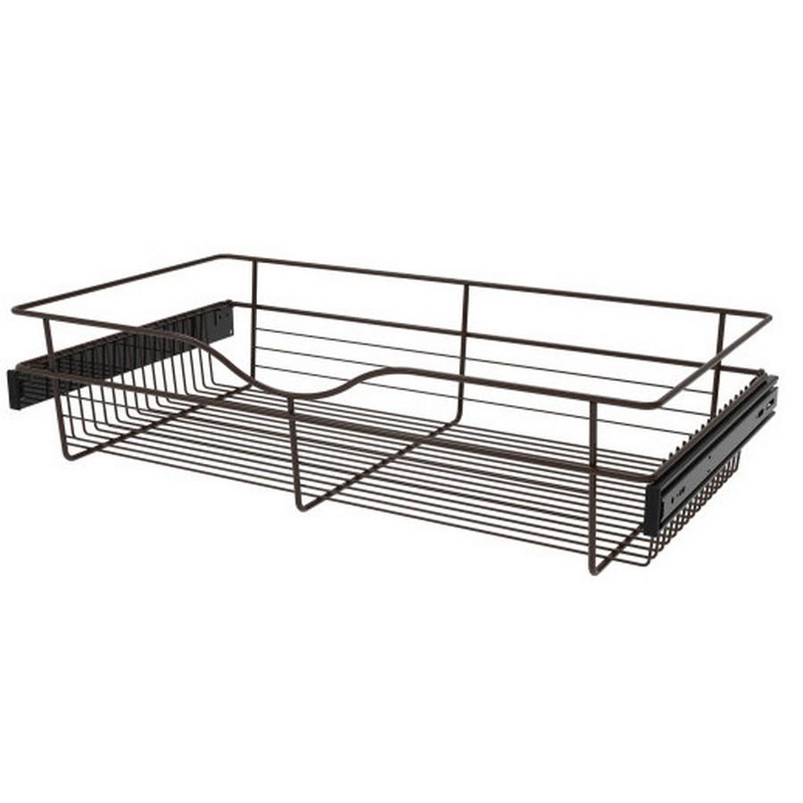Pull-Out Wire Closet Basket, 30 W x 16 D x 7 H, Oil Rubbed Bronze Rev-A-Shelf CB-301607ORB-3