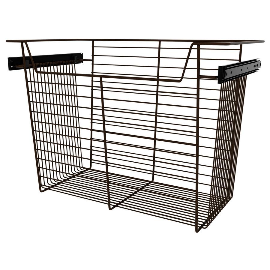"""24"""" X 14"""" X 17"""" Closet Basket with Slides Bronze Sidelines CBSL-241417BZ-3"""