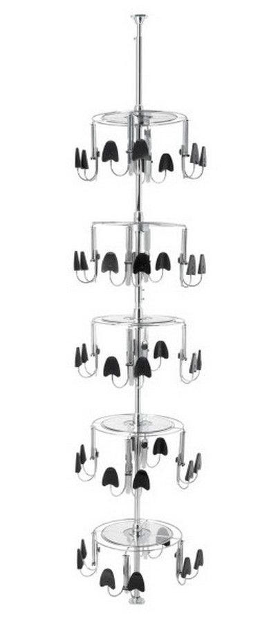 5 Tier Mens Shoezen Closet Shoe Organizer Chrome Rev-A-Shelf CLSZ-M5-96-1