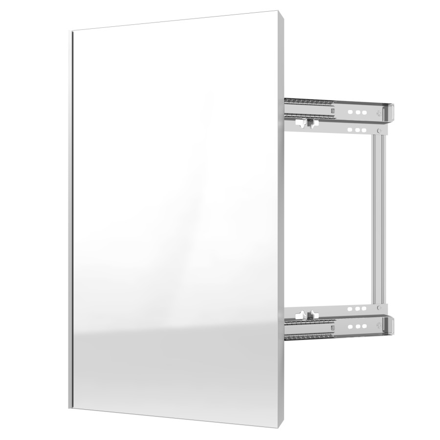 "24"" Pullout Closet Mirror with Soft-Close Silver Sidelines CMSL-1424-SM-1"