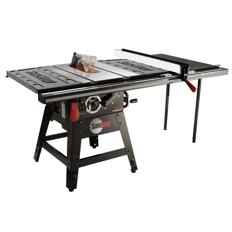 "SawStop Contractor Saw, 1.75hp 1ph 110v with 36"" Professional T-Glide Fence System CNS175-TGP236"