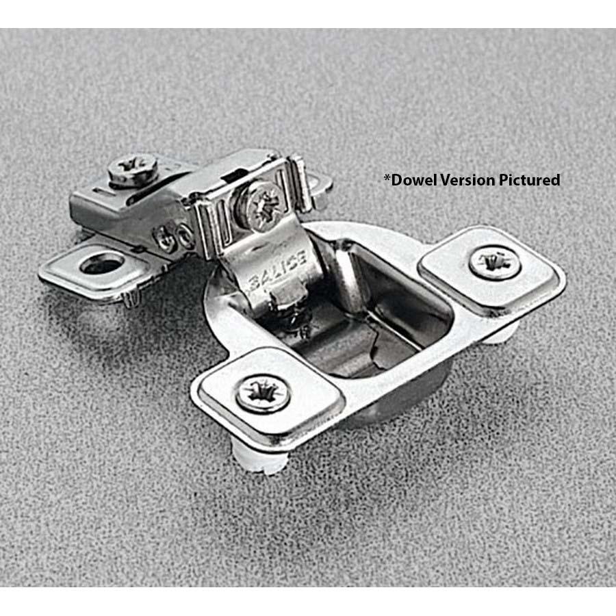 Salice CSR3799XR 106°  Face Frame Hinge, 1/2 Overlay, 3 Cam Adjustment, Self-closing, Dowel