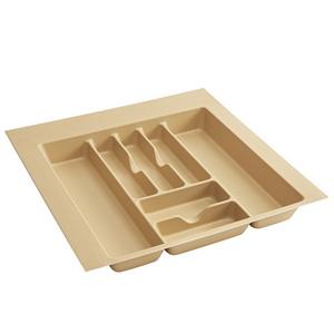 "21-7/8""W Cutlery Drawer Insert, Plastic, Almond, Rev-a-shelf  CT-4A-52"