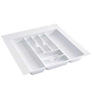 "21-7/8""W Cutlery Drawer Insert, Plastic, White, Rev-a-shelf  CT-4W-10"