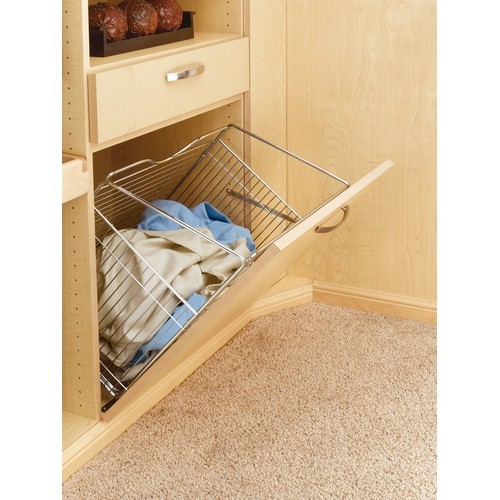 Rev-A-Shelf CTOHB-211319-SN-52 - Tilt Out Hamper Basket System, Satin Nickel