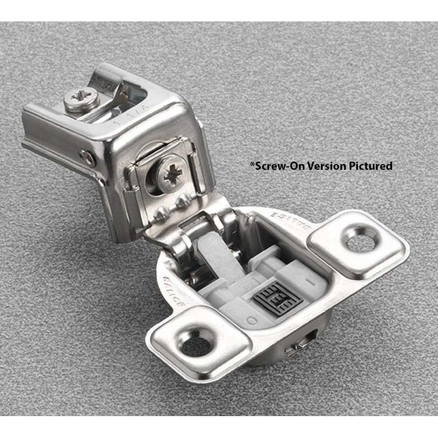 """Salice CUP32D9 106° Soft-Closing Hinge, 1"""" Overlay, 2 Cam, Screw-On"""