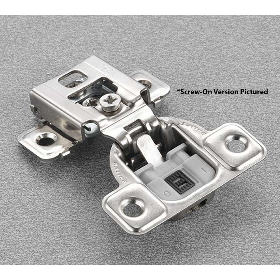 """Salice CUP35D9R 106° Soft-Closing Hinge, 5/8"""" Overlay, 3 Cam, Screw-On"""
