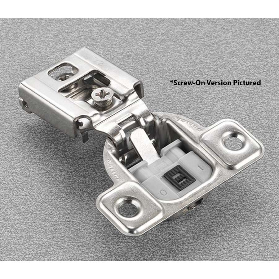 """Salice CUP37D9 106° Soft-Closing Hinge, 1/2"""" Overlay, 2 Cam, Screw-On"""
