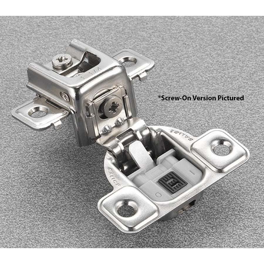 """Salice CUP3AD9R 106° Soft-Closing Hinge, 1-1/4"""" Overlay, 3 Cam, Screw-On"""