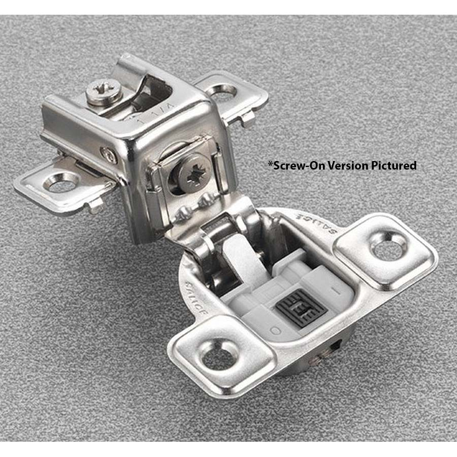 """Salice CUP3BD9 106° Soft-Closing Hinge, 1-5/16"""" Overlay, 2 Cam, Screw-On"""
