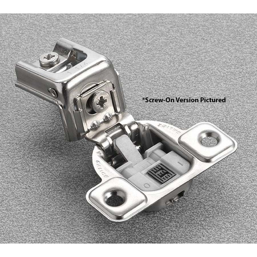 "Salice CUP3CD9 106° Soft-Closing Hinge, 1-3/8"" Overlay, 2 Cam, Screw-On"