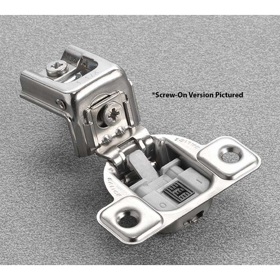 "Salice CUR3CD9 106° Soft-Closing Hinge, 1-3/8"" Overlay, 2 Cam, Dowel"