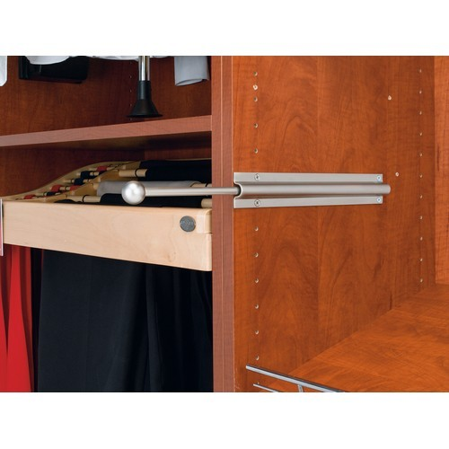 "12"" Pullout Standard Valet Rod  Satin Nickel Rev-A-Shelf CVL-12-SN"