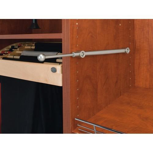 "14"" Pullout Designer Valet Rod Satin Nickel Rev-A-Shelf CVR-14-SN"