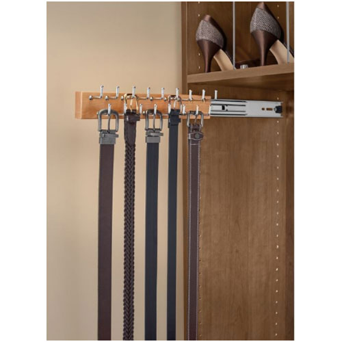 Rev-A-Shelf CWSBR-20-1 - 20in Side Mount Belt Rack, Natural