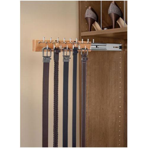 """20"""" Side Mount Wood Belt Rack Natural Maple Rev-A-Shelf CWSBR-20-1"""