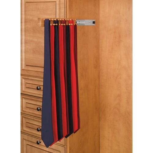 Rev-A-Shelf CWSTR-14-1 - 14in Side Mount Tie Rack, Natural