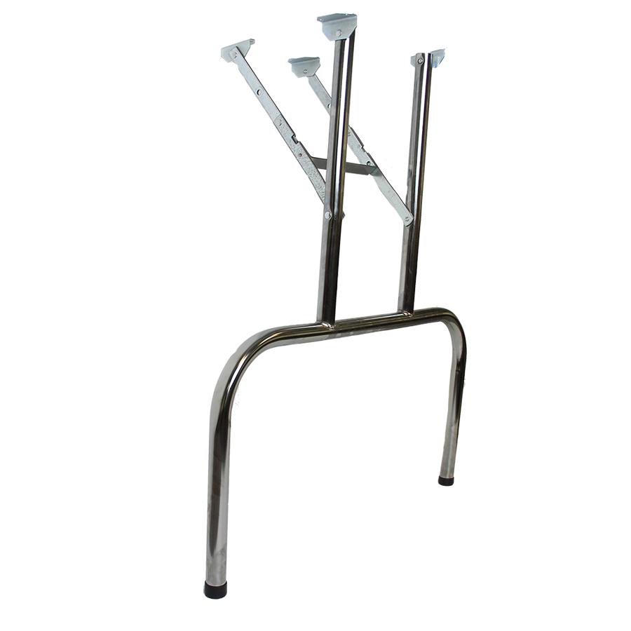 "Heavy Duty Folding Banquet Table Legs Set 29"" H x 24"" W Chrome 400lb  Load Rating EBCO APF-C"