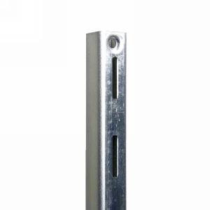 WE Preferred B01-59301-174 30in HD Single Slotted Shelf Standard, Bright Zinc